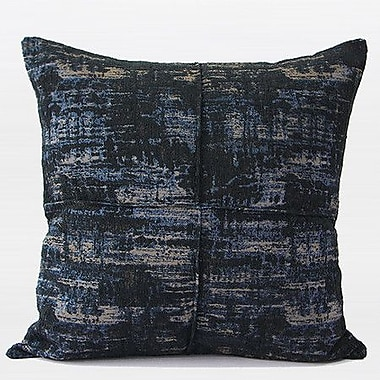 G Home Collection Luxury Chenille Throw Pillow; Blue