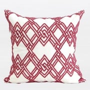 G Home Collection Handmade Textured Beaded Throw Pillow; Red