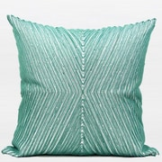 G Home Collection Handmade Textured Beaded Throw Pillow