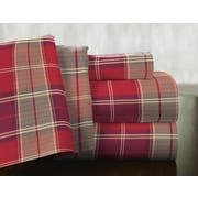 Pointehaven Piedmont 100pct Cotton Flannel Sheet Set; Queen