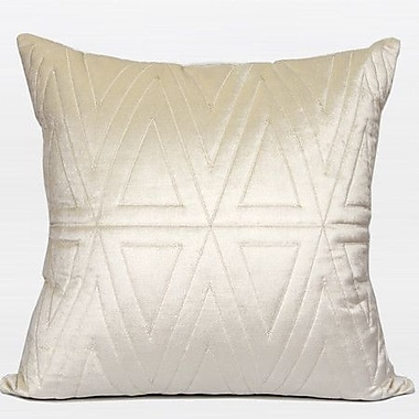 G Home Collection Triangle Pattern Quilted Throw Pillow