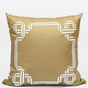 G Home Collection Textured Frame Embroidered Throw Pillow