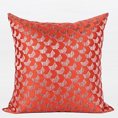 G Home Collection Luxury Arrows Jacquard Throw Pillow; Tangerine