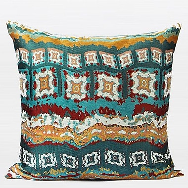 G Home Collection Luxury Tribe Jacquard Throw Pillow; Green