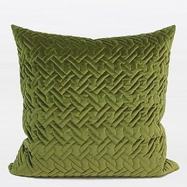 G Home Collection Luxury Braid Textured Quilting Pillow Cover; Green