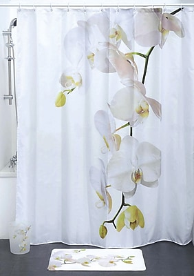 Evideco Purity Orchid Polyester Printed Shower Curtain