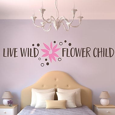 Enchantingly Elegant Live Wild Flower Child Flowers Wall Decal