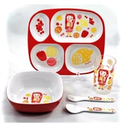 Tablescapes by Gaia Group LLC Children Melamine Gift Juice Girl 5 Piece Dinnerware Set