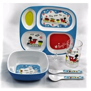 Tablescapes by Gaia Group LLC Children Melamine Gift Trains 5 Piece Dinnerware Set