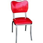 Richardson Seating Retro Home Side Chair; Red