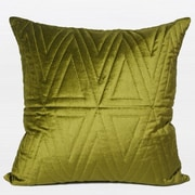 G Home Collection Luxury Quilting Throw Pillow; Wasabi Green