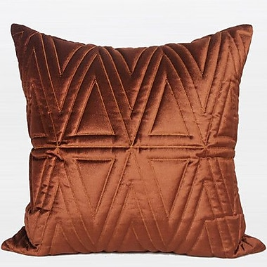 G Home Collection Luxury Quilting Throw Pillow; Red Brown