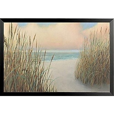 Buy Art For Less 'Beach Trail I - Sand Dunes Ocean' by James Wiens Framed Painting Print