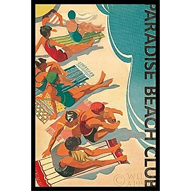 Buy Art For Less 'Paradise Beach Club' Framed Graphic Art
