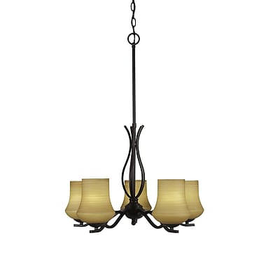Toltec Lighting Revo 5-Light Shaded Chandelier