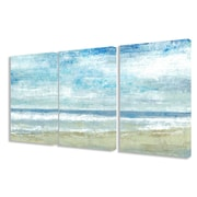 Stupell Industries 'Golden Sands' 3 Piece Painting Print on Canvas Set