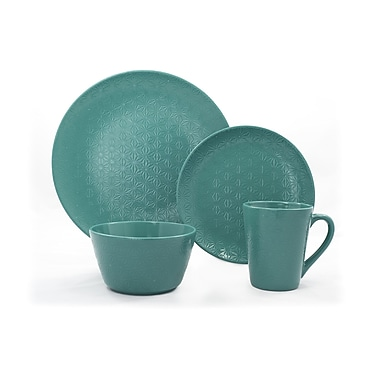 Tablescapes by Gaia Group LLC Lola 16 Piece Dinnerware Set; Green Sprout
