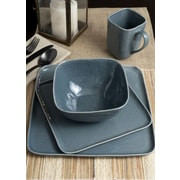 Tablescapes by Gaia Group LLC Bari 16 Piece Dinnerware Set; Dusty Blueberry