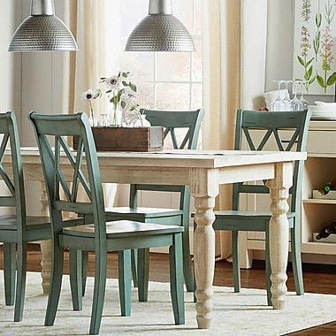 Delightful Grain Wood Furniture Valerie Dining Table; Off White