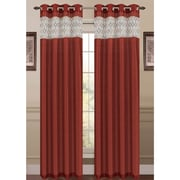 Window Elements Felicity Single Curtain Panel; Spice