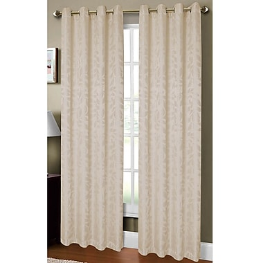 Window Elements Allie Textured Nature/Floral Sheer Single Curtain Panel; Ivory