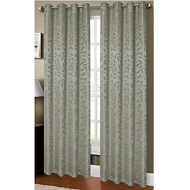 Window Elements Allie Textured Nature/Floral Sheer Single Curtain Panel; Sage