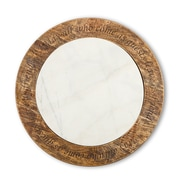 TGGC Antiquity Marble Wood Lazy Susan