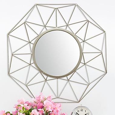 Stratton Home Decor Amber Wall Mirror