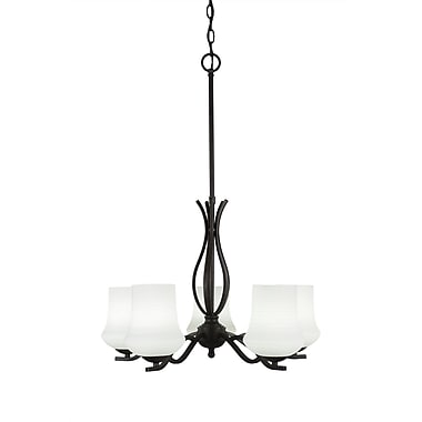Toltec Lighting Revo 5-Light Shaded Chandelier; Dark Granite
