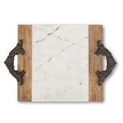TGGC Antiquity Marble Wood Cutting and Serving Board; 14'' H X 5'' W X 19'' D