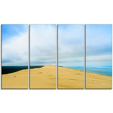 DesignArt 'Cala Violina Bay Beach Tuscany' 4 Piece Graphic Art on Wrapped Canvas Set