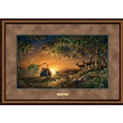 WildWings Sunset Harvest by Terry Redlin Framed Painting Print