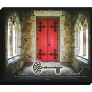 Carpentree Embellished Canvas 'Ask, Seek and Knock' Graphic Art on Wrapped Canvas