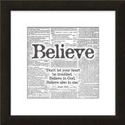 Carpentree Faith Gallery 'Believe' Framed Textual Art