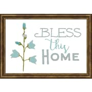 Carpentree Faith Gallery 'Bless This Home' Framed Graphic Art