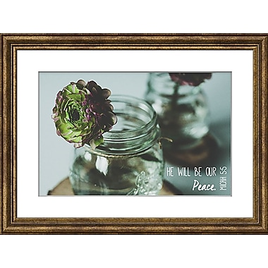 Carpentree Faith Gallery 'He Will Be Our Peace' Framed Photographic Art
