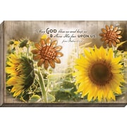 Carpentree Embellished Canvas 'May God Bless' Framed Graphic Art on Wrapped Canvas