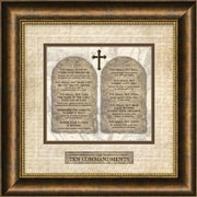 Carpentree Traditional for Today 'Ten Commandments' Framed Textual Art