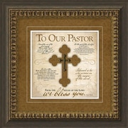 Carpentree Traditional for Today 'To Our Pastor' Framed Graphic Art