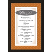 Carpentree Colorful Classic 'You Are a Child of God' Framed Textual Art