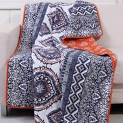 Greenland Home Fashions Medina Quilted Throw; Saffron