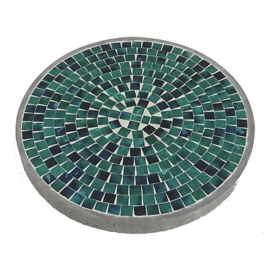 Firefly Home Collection Mosaic Stepping Stone; Jade Green