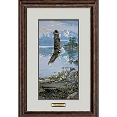 WildWings Dawn's Call - Soaring Bald Eagle by Lee Kromschroeder Framed Painting Print