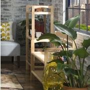 New Ridge Home Goods Abingdon 46'' Etagere; Blonde