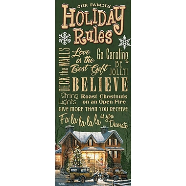 WildWings Family Holiday Rules by Terry Redlin Textual Art