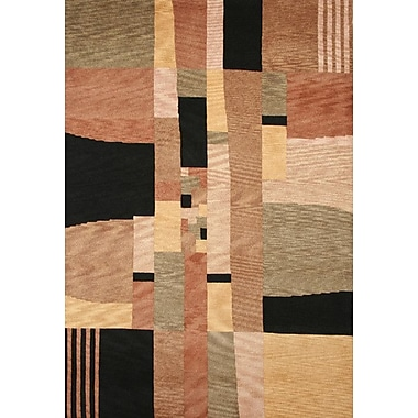 Rizzy Home Tango Black/Beige Bubblerary Rug; 5' x 8'