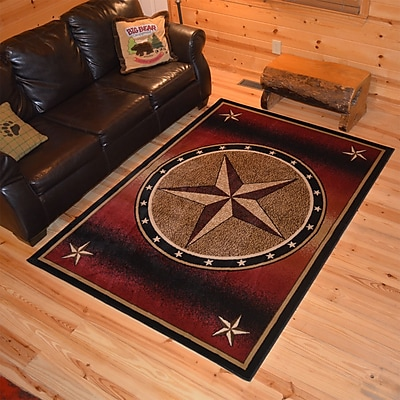 Mayberry Rug American Destinations Red/Beige Area Rug; Rectangle 8' x 10'