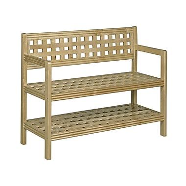 New Ridge Home Goods Beaumont Wood Storage Bench; Blonde