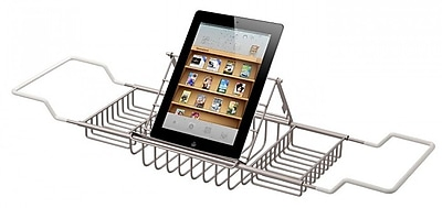 CheviotProducts Deluxe Solid Brass Reading Rack; Brushed Nickel