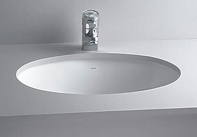 CheviotProducts Vitreous China Oval Undermount Bathroom Sink w/ Overflow; Biscuit